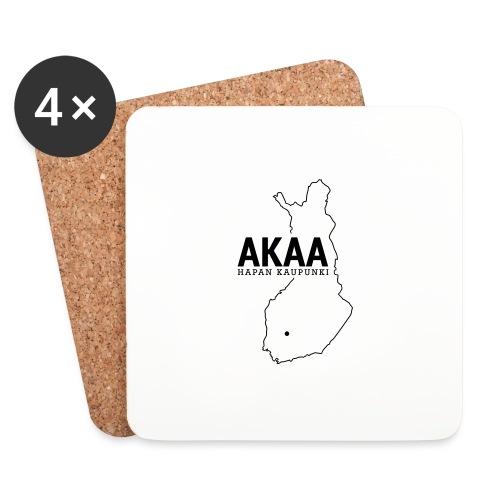 Kotiseutupaita - Akaa - Lasinalustat (4 kpl:n setti)