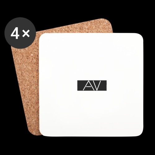AV White - Coasters (set of 4)