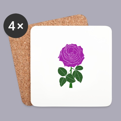 Landryn Design - Pink rose - Coasters (set of 4)
