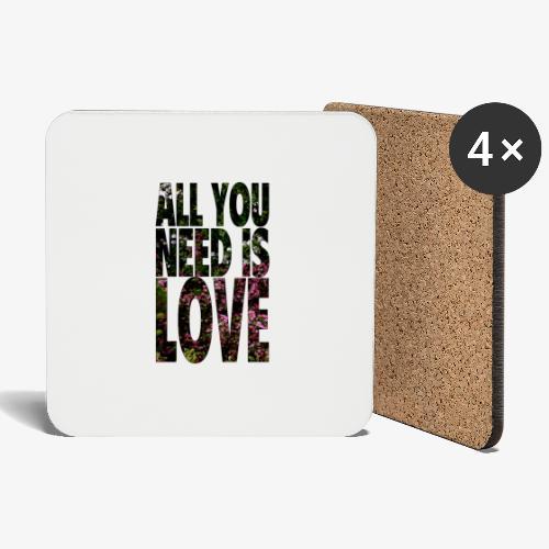All You need is love - Podstawki (4 sztuki w zestawie)