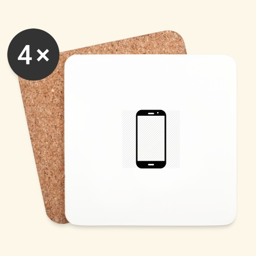 Phone clipart - Coasters (set of 4)
