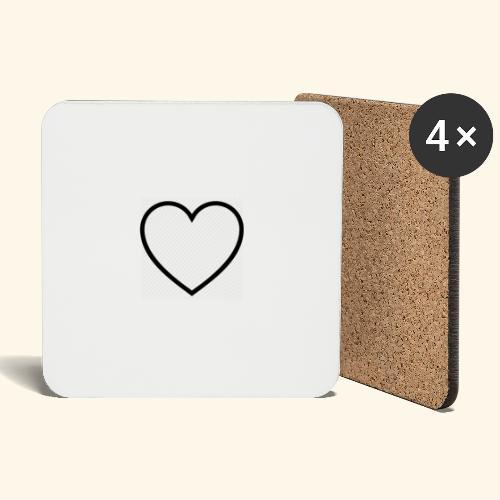 heart 512 - Glasbrikker (sæt med 4 stk.)