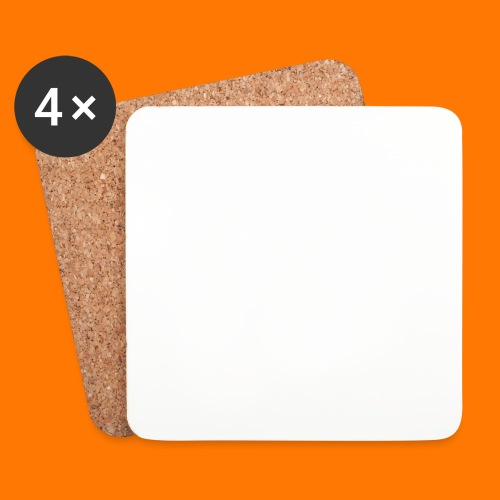 SCP-sign-WHITE transp - Coasters (set of 4)