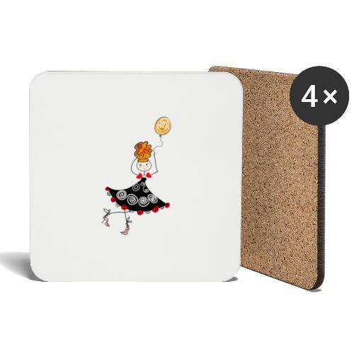 Ballerina con palloncino - Sottobicchieri (set da 4 pezzi)