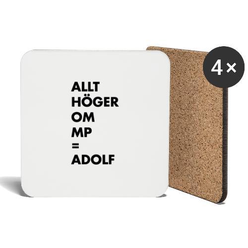 Allt höger om MP = Adolf - Underlägg (4-pack)