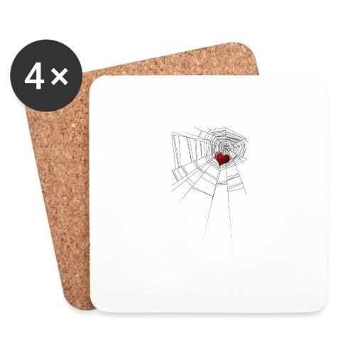 trappola_del_cuore - Sottobicchieri (set da 4 pezzi)