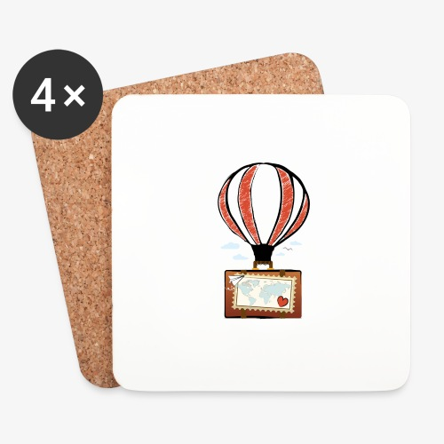 CUORE VIAGGIATORE Gadget per chi ama viaggiare - Sottobicchieri (set da 4 pezzi)