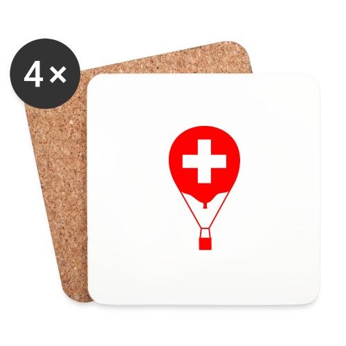 Gasballon im schweizer Design - Untersetzer (4er-Set)
