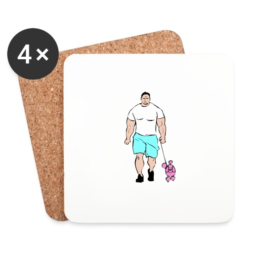 It's a poodle's job! - Coasters (set of 4)