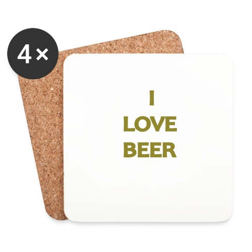 I LOVE BEER - Sottobicchieri (set da 4 pezzi)