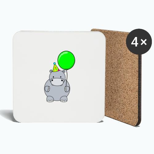 Henri Hippo Party - Appelsin - Underlägg (4-pack)