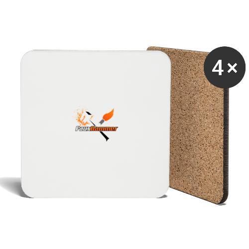 FauxHammer Logo White Square - Coasters (set of 4)