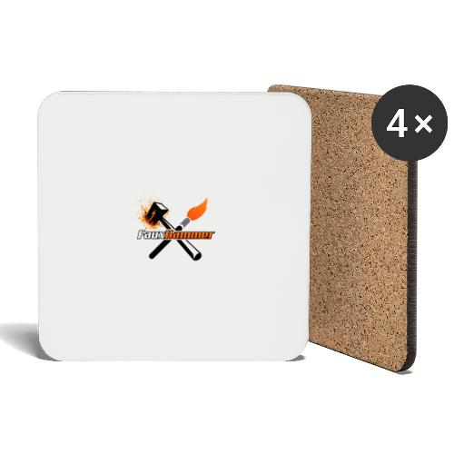 FauxHammer Logo Black Square - Coasters (set of 4)