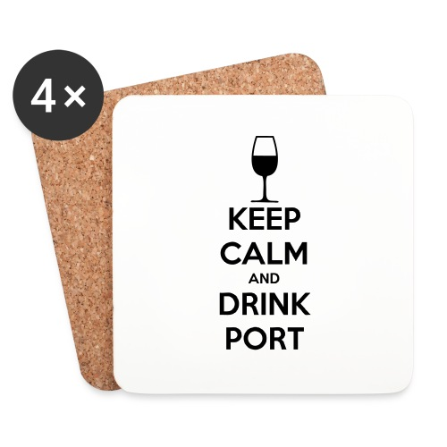Keep Calm and Drink Port - Coasters (set of 4)