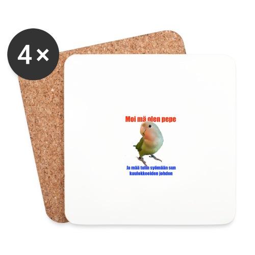 pepe syö sun johdot - Lasinalustat (4 kpl:n setti)