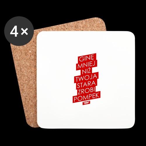 gine mniej - Podstawki (4 sztuki w zestawie)