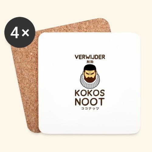 Verwijder Kokosnoot - Onderzetters (4 stuks)
