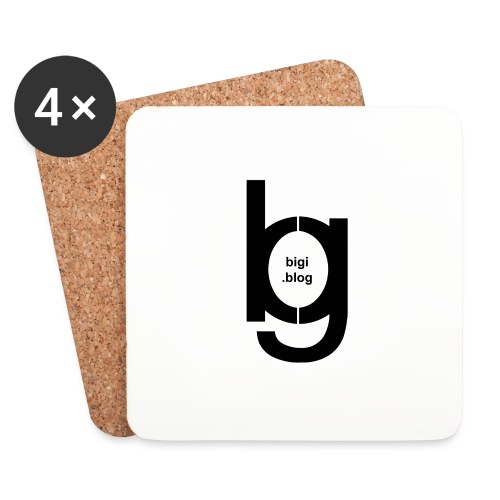 bigi logo black - Untersetzer (4er-Set)