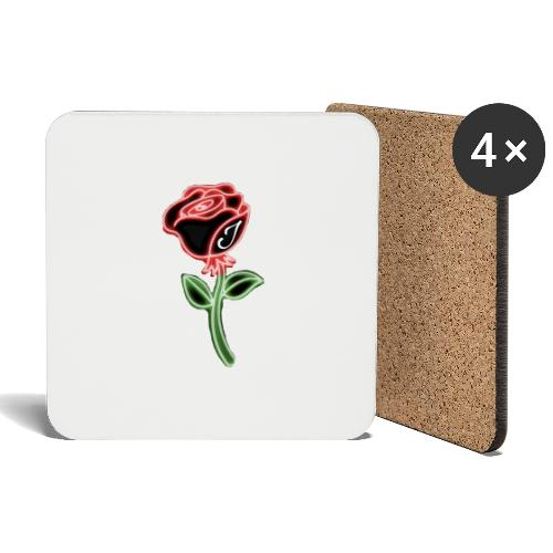 Rose - Untersetzer (4er-Set)