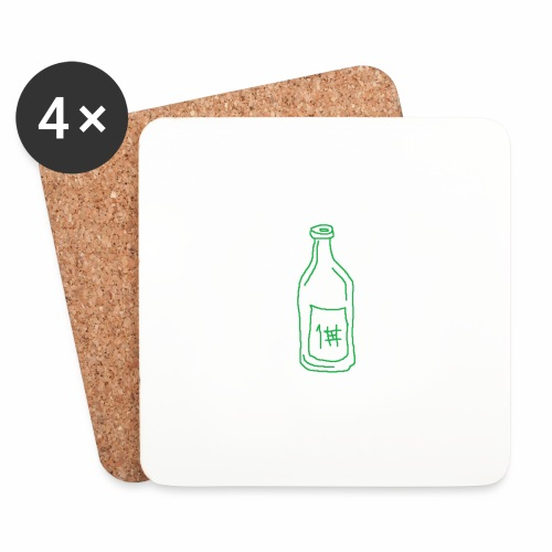 Alkoholi - Lasinalustat (4 kpl:n setti)