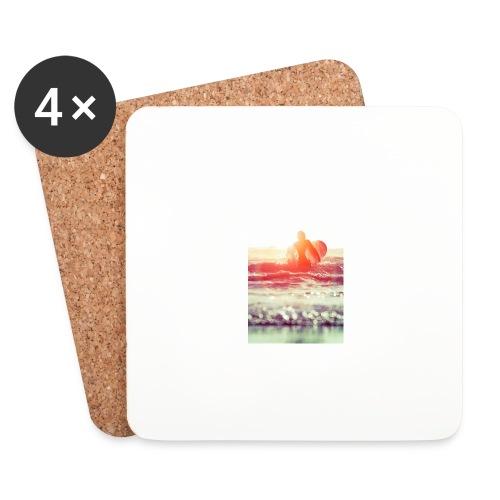 sunset surf jpg - Coasters (set of 4)