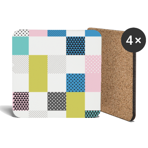 Abstract art squares - Coasters (set of 4)