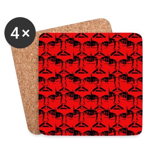 Ghemba Pop Art in rosso - Sottobicchieri (set da 4 pezzi)