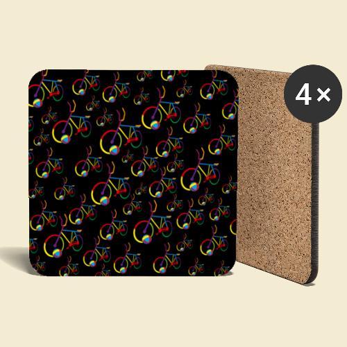 Radball | Cycle Ball Rainbow | Muster - Untersetzer (4er-Set)