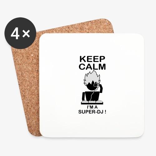 KEEP CALM SUPER DJ B&W - Dessous de verre (lot de 4)
