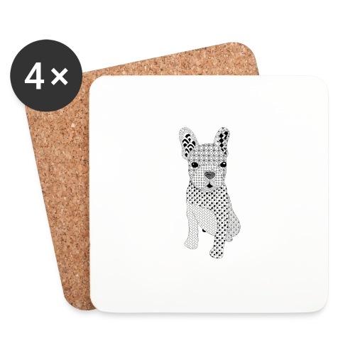 Bulldog puppy patroon - Onderzetters (4 stuks)