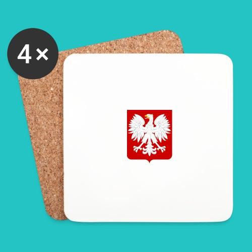 Koszulka z godłem Polski - Podstawki (4 sztuki w zestawie)