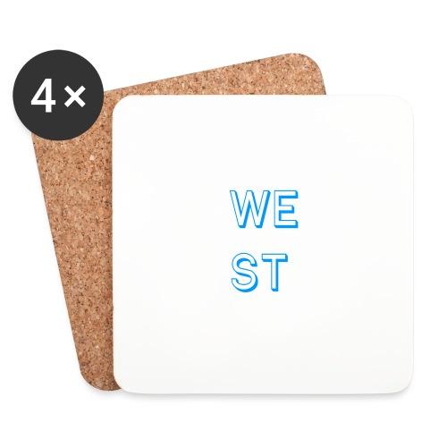 WEST LOGO - Sottobicchieri (set da 4 pezzi)