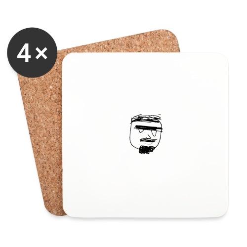 Ghemba stilizzato nero - Sottobicchieri (set da 4 pezzi)