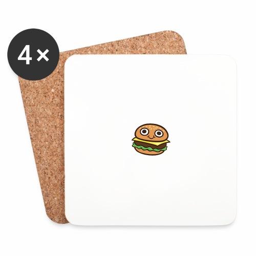 Burger Cartoon - Onderzetters (4 stuks)
