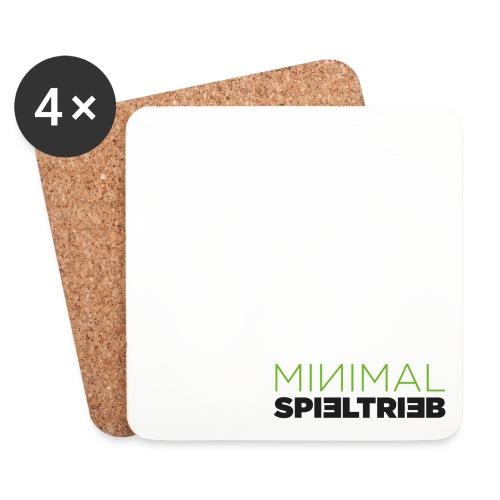 minimalspieltrieb logo jpg - Untersetzer (4er-Set)