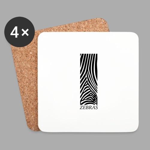 zebras - Coasters (set of 4)