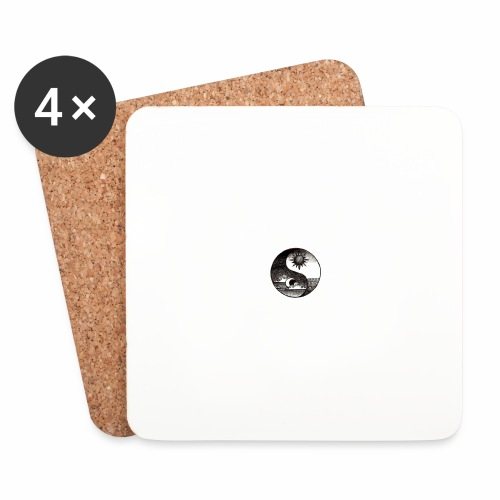 SUN AND MOON - Coasters (set of 4)