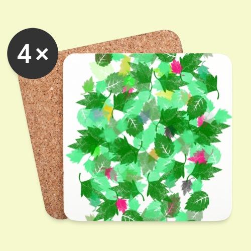 my leaves | Blätterboden im Laubland - Untersetzer (4er-Set)