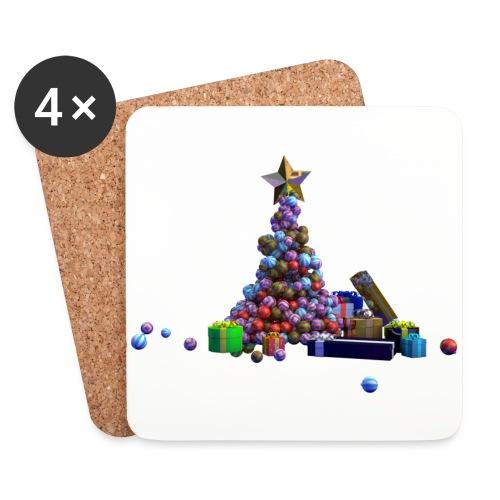 Sapin de Noël et cadeaux - Dessous de verre (lot de 4)