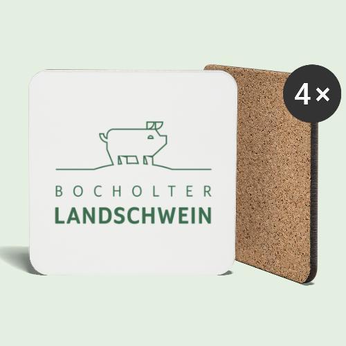Bocholter Landschwein pur - Untersetzer (4er-Set)