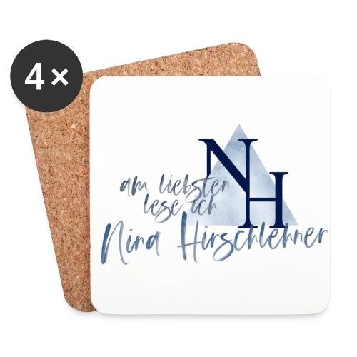 Ich lese lieber Nina Hirschlehner - Untersetzer (4er-Set)