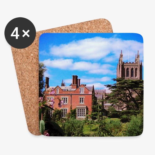 HFD Cathedral floral filter DK LG jpg - Coasters (set of 4)