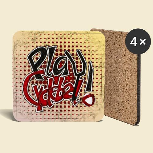 Radball | Play Cycle Ball Poster - Untersetzer (4er-Set)