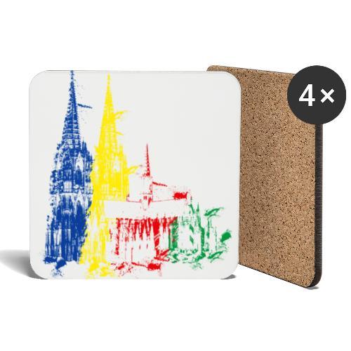 Kölner Dom, Farbexplosion - Untersetzer (4er-Set)