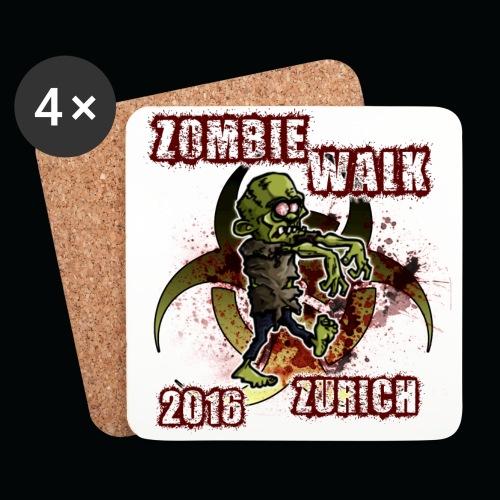 shirt zombie walk3 - Untersetzer (4er-Set)