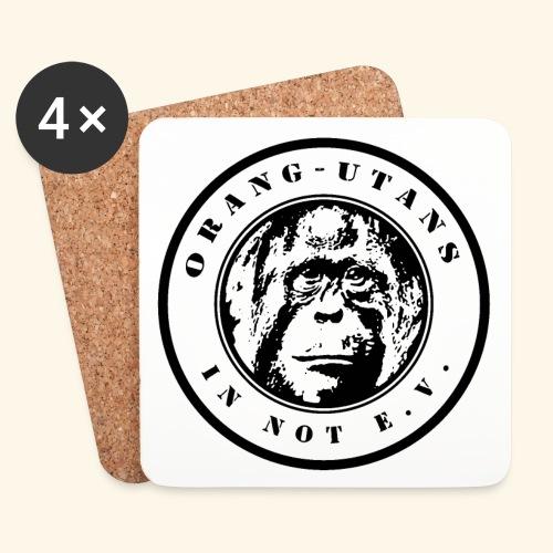 Logo Orang-Utans in Not e.V. schwarz - Untersetzer (4er-Set)
