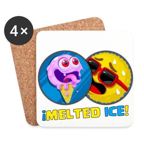 MELTED ICE png - Posavasos (juego de 4)