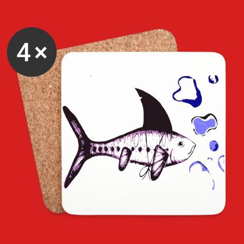 Hai-Fisch - Untersetzer (4er-Set)