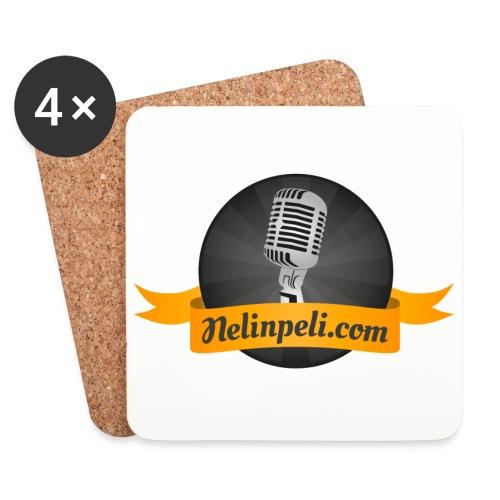 Nelinpelin logo - Lasinalustat (4 kpl:n setti)
