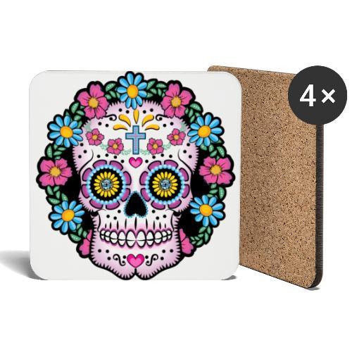 Dia de los Muertos Skull- - Coasters (set of 4)